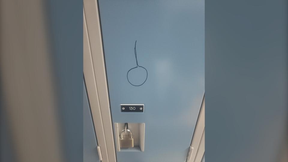 Noose drawn on locker