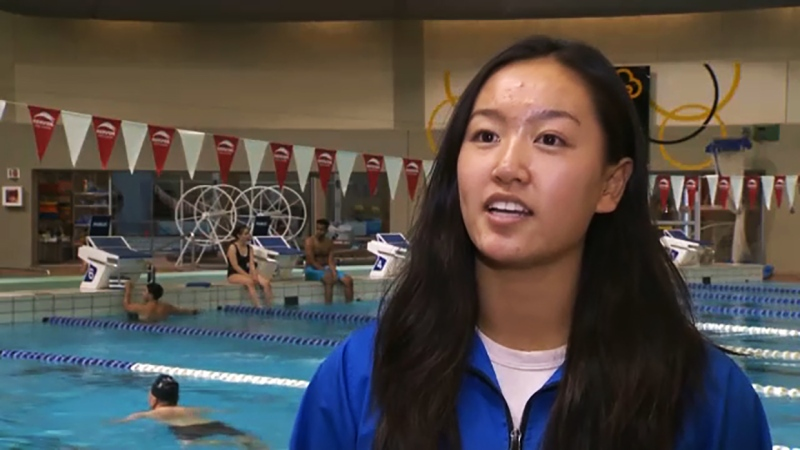 She's a rising pentathlete heading for a competition in Egypt and she's our Athlete of the Week, Olivia Li