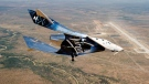 Virgin Galactic SpaceshipTwo Unity flies free in the New Mexico Airspace for the first time on Friday, May 1, 2020. (Virgin Galactic via AP)