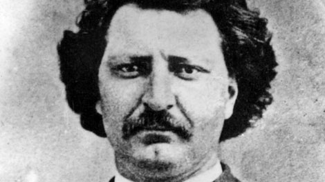 A file photo of Louis Riel circa 1873. (Manitoba Archives / THE CANADIAN PRESS)