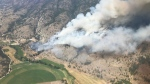 The Thomas Creek wildfire is seen from the air in an image posted by the BC Wildfire Service. (Twitter/BCGovFireInfo)