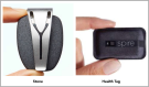 The Spire Stone (left) and Spire Health Tag (right) are two pieces of tech that researchers hope can help cancer survivors manage chronic pain without using pharmaceuticals. SOURCE: JCO