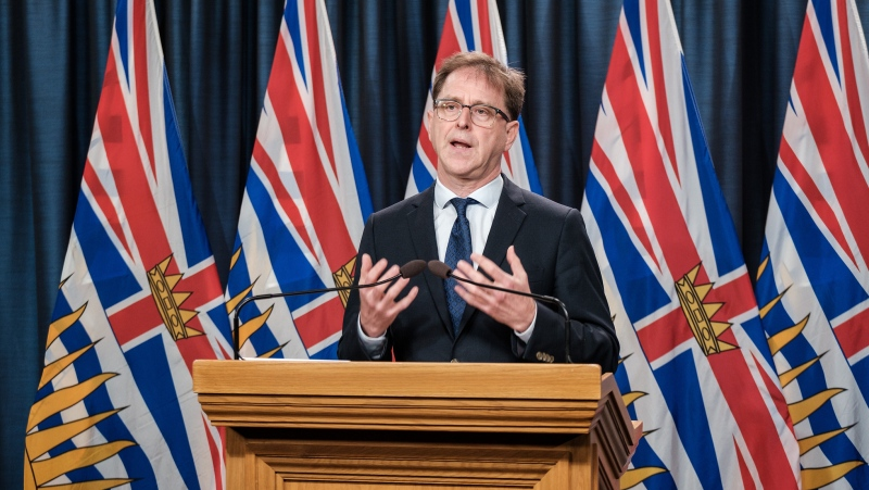 Health Minister Adrian Dix speaks at a news conference in August 2020. (Province of BC/Flickr)