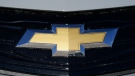 The Chevrolet logo is displayed at a Chevrolet dealership Sunday, Nov. 8, 2020, in Englewood, Colo. (AP Photo/David Zalubowski, File)