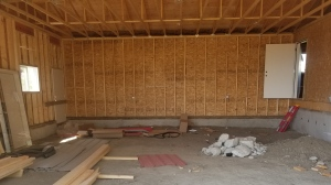 Some of the damage left behind, according to the statements of claim, includes a garage floor built 37 inches below the main floor. (Miriam Valdes-Carletti/CTV Saskatoon)