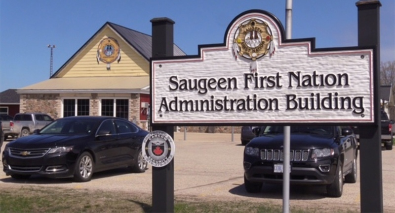 The offices of the Saugeen Ojibway Nation. (Scott Miller / CTV News)