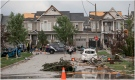 Damaged homes are pictured after a suspected tornado touched down in Barrie, Ont. Thursday, July 15, 2021. (Courtesy: Stephen Elliott)