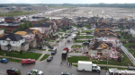 Looking down on the destruction of a neighbourhood in Barrie that was hit by an EF-2 tornado on Thu., July 15, 2021. (Courtesy: Jennifer Bolzicco)