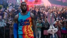 This image released by Warner Bros. Pictures shows LeBron James in a scene from 'Space Jam: A New Legacy.' (Warner Bros. Pictures via AP)