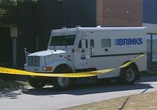This Brinks vehicle was involved in a burglary at knife point in Toronto on Aug. 31, 2007.