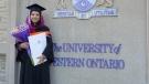Madiha Salman is seen in this undated image. (Source: Salman family via Western University)