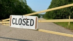 The Kenosee Superslides have been closed since last summer. (Cole Davenport/CTV News)