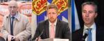 N.S. NDP leader Gary Burrill, N.S. Liberal leader Iain Rankin and N.S. PC leader Tim Houston.