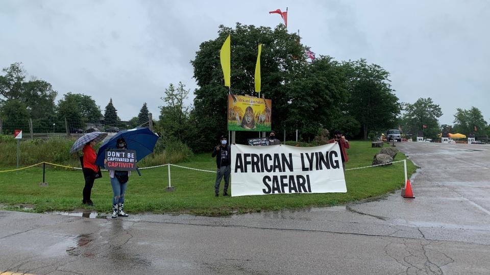 African Lion Safari protest