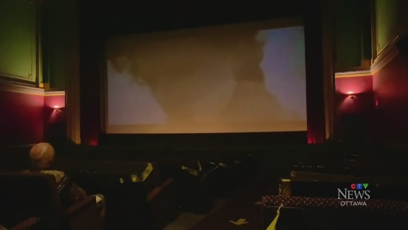 Opening night of reopening at the movies