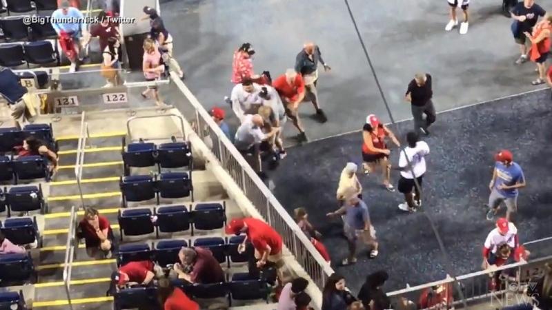 Padres fans sent panicking after stadium shooting