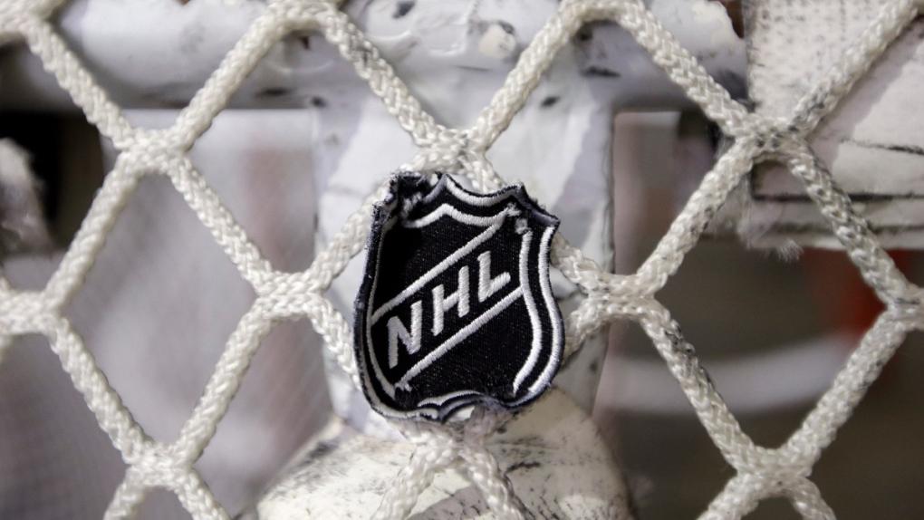 NHL logo on a goal net in Nashville