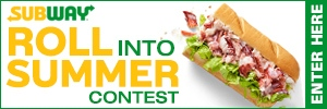 Subway Roll Into Summer Contest Button
