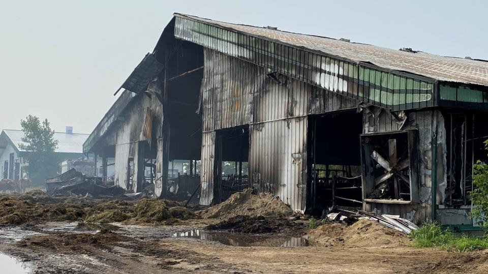 Mirabel farm fire