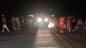 Durham Regional Police respond to a party attended by more than 2,000 people in Whitby. (Facebook/Colin Ryan)