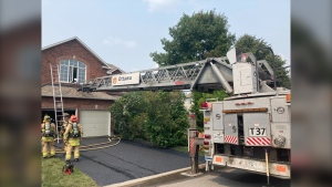 Ottawa fire officials say no one was injured in a Barrhaven house fire on Monday afternoon. (Ottawa Fire Services)