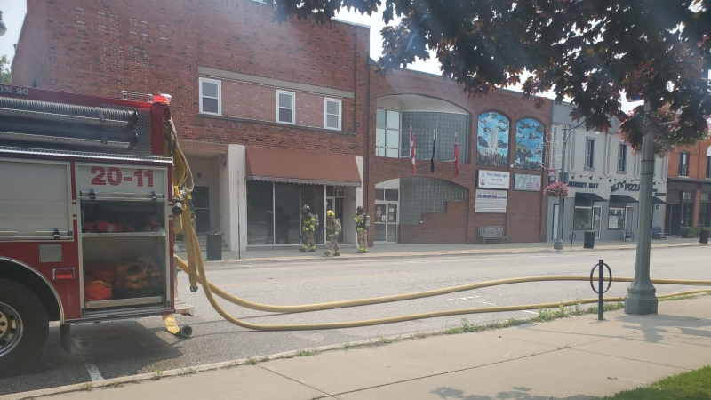 Firefighters respond for reports of Hydrogen Sulfide gas in Wheatley, Ont. on Monday, July 19, 2021. (Source: Municipality of Chatham-Kent)