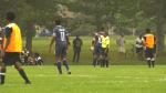 Rockers United Surad and the CCA Footy Team of the Ottawa Carleton Soccer League returned to the pitch Monday night at Orlando Park. (Shaun Vardon/CTV News Ottawa)