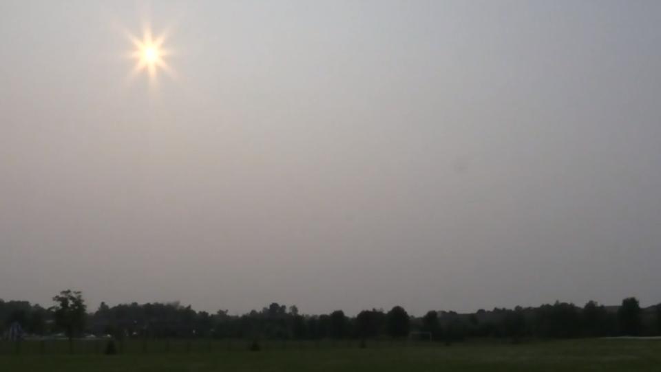 Hazy sky over Alliston