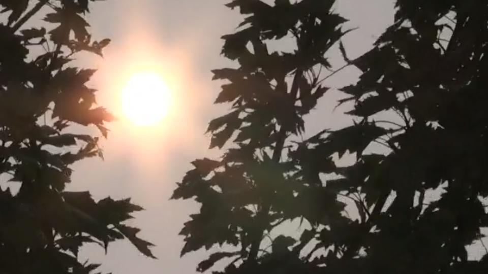 Hazy sun in Barrie