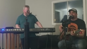 J.P. St. Onge and John Felsman from the Greater Sudbury community of Chelmsford team up to cover 'I Love a Rainy Night' by Eddie Rabbit.