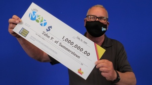John Perkins, 66, of Summerstown, Ont. won $1 million playing Lotto Max. (Image provided by OLG)