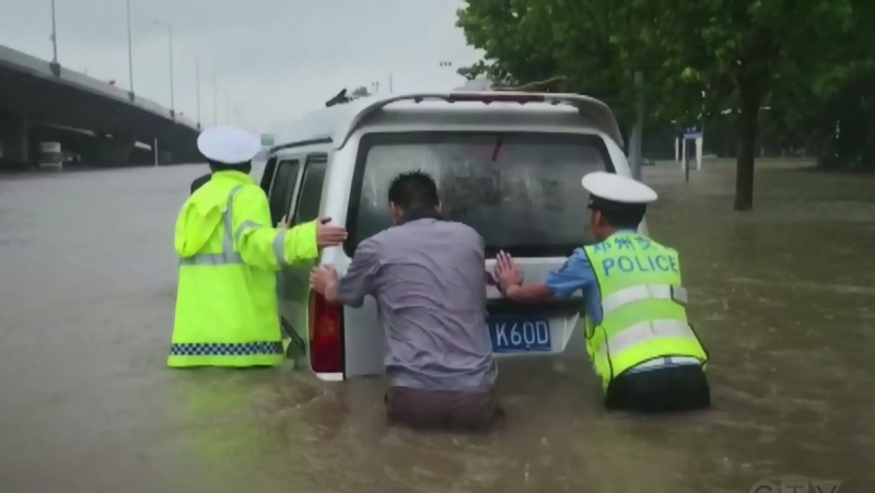 Heavy flooding in China