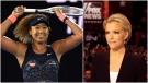 Composite photo of Japan's Naomi Osaka celebrating at the Australian Open tennis championship in Feb. 20, 2021 and Megyn Kelly during the Republican presidential primary debate in 2016. (AP Photo/Andy Brownbill; AP Photo/Chris Carlson, File)