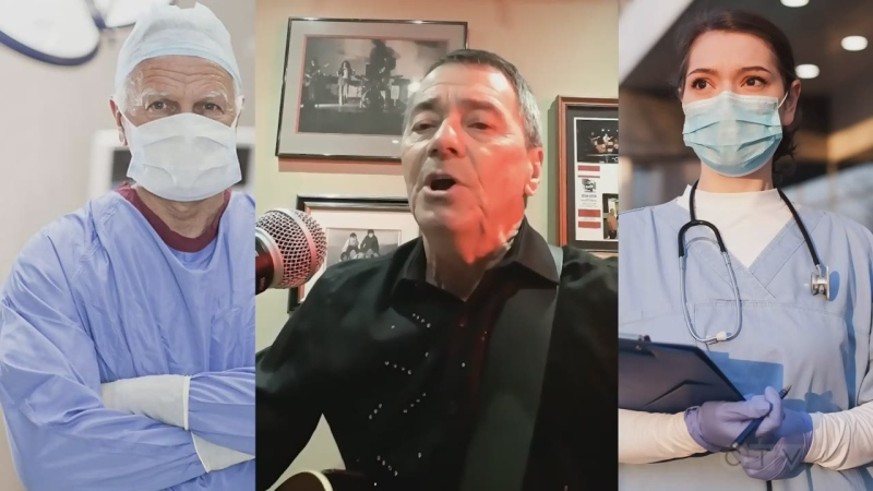 Cochrane man dedicates song to front-line workers