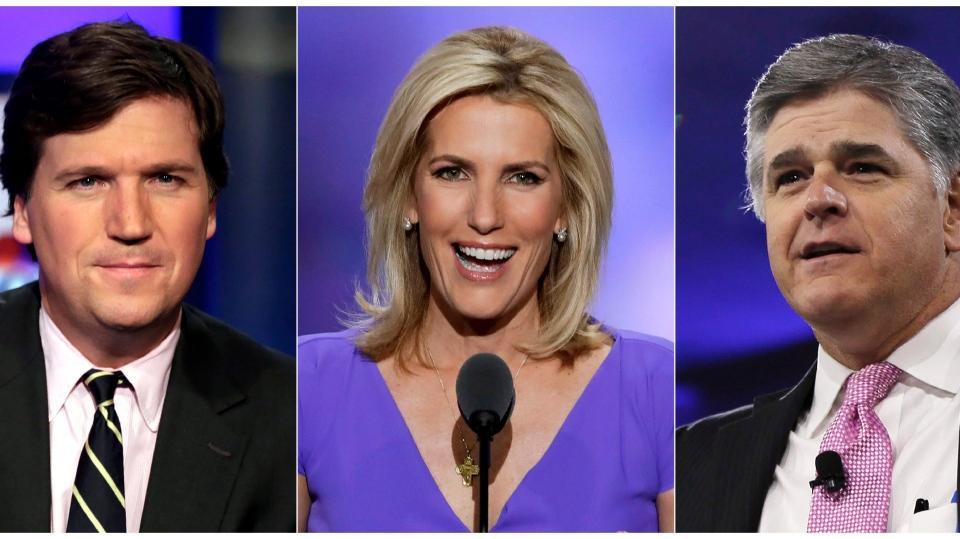 Tucker Carlson, Laura Ingraham, Sean Hannity