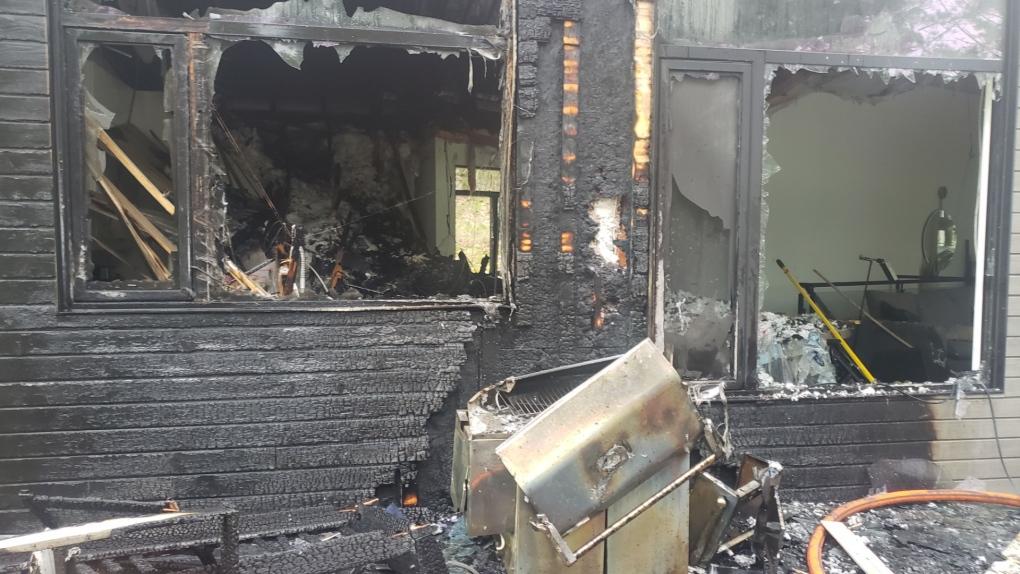 BBQ fire in Gravenhurst