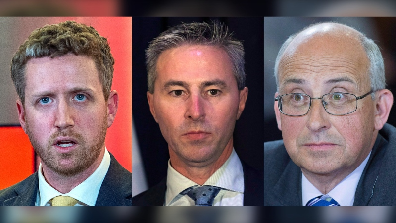 Liberal leader Iain Rankin, PC leader Tim Houston and NDP leader Garry Burrill. THE CANADIAN PRESS
