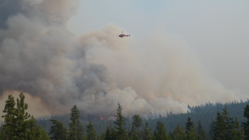 Tremont Creek fire southeast of Ashcroft. (B.C. Wildfire Service)