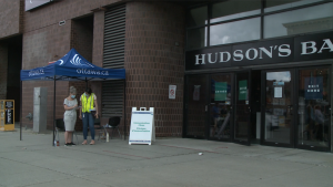 A COVID-19 vaccine clinic is held at the Hudson's Bay store on George Street in Ottawa, July 2, 2021. (Ian Urbach / CTV News Ottawa)