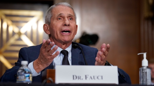 Top infectious disease expert Dr. Anthony Fauci responds to accusations by Sen. Rand Paul, R-Ky., as he testifies before the Senate Health, Education, Labor, and Pensions Committee, on Capitol Hill in Washington, Tuesday, July 20, 2021. (AP Photo/J. Scott Applewhite, Pool)