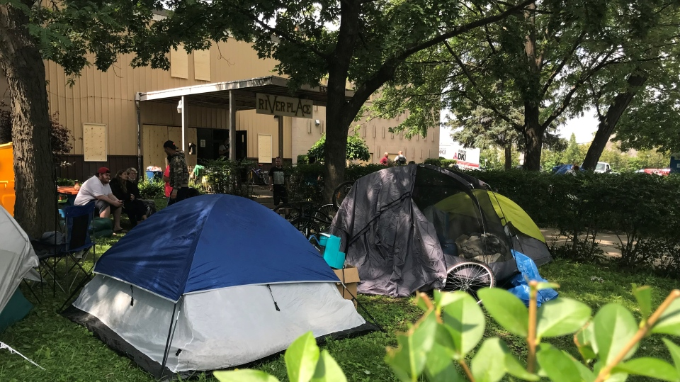 Riverplace tents