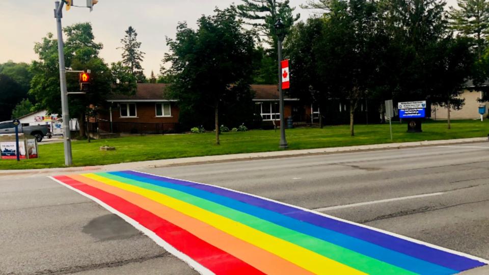 Wasaga Beach rainbow crosswalk