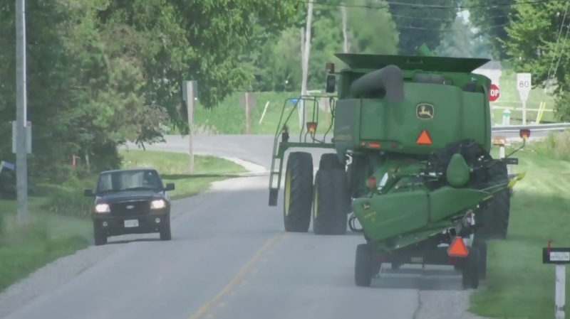 Reminder to watch for farm equipment on roads