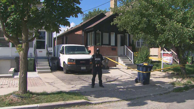 Toronto police are investigating the deaths of two people found inside a home with obvious signs of trauma.