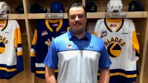 Brennan Sonne was announced as the Saskatoon Blades' head coach on July 21, 2021 (Pat McKay/CTV News)