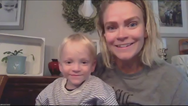 Bryarly Parker and her son 'Mighty Max.' Max was diagnosed with SMA at 22 months old. (CTV News Edmonton)