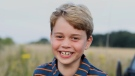 Prince William and his wife Kate released a new photograph of their son Prince George with a beaming smile to mark his eighth birthday on Thursday. (The Duke and Duchess of Cambridge/Twitter)