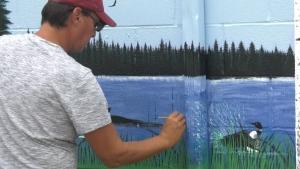 New Fort Qu'Appelle mural