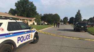 Ottawa Police investigating an overnight homicide on Sherry Lane in Nepean. (Jim O'Grady/CTV News Ottawa)