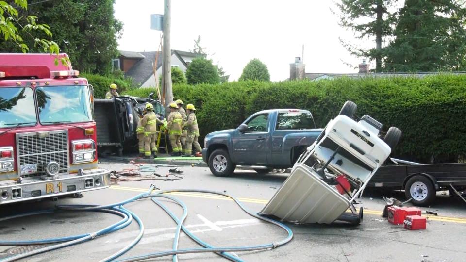 Burnaby car crash